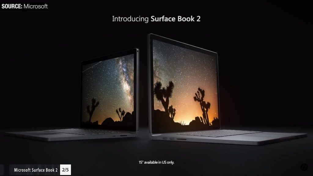 XPS 15 vs Microsoft Surface Book 2