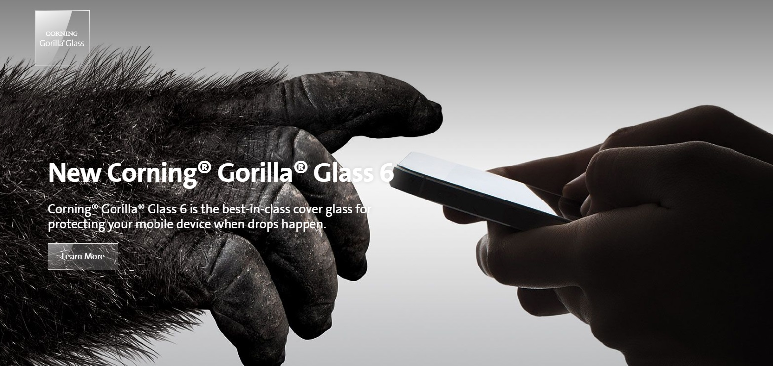 New Corning Gorilla Glass 6