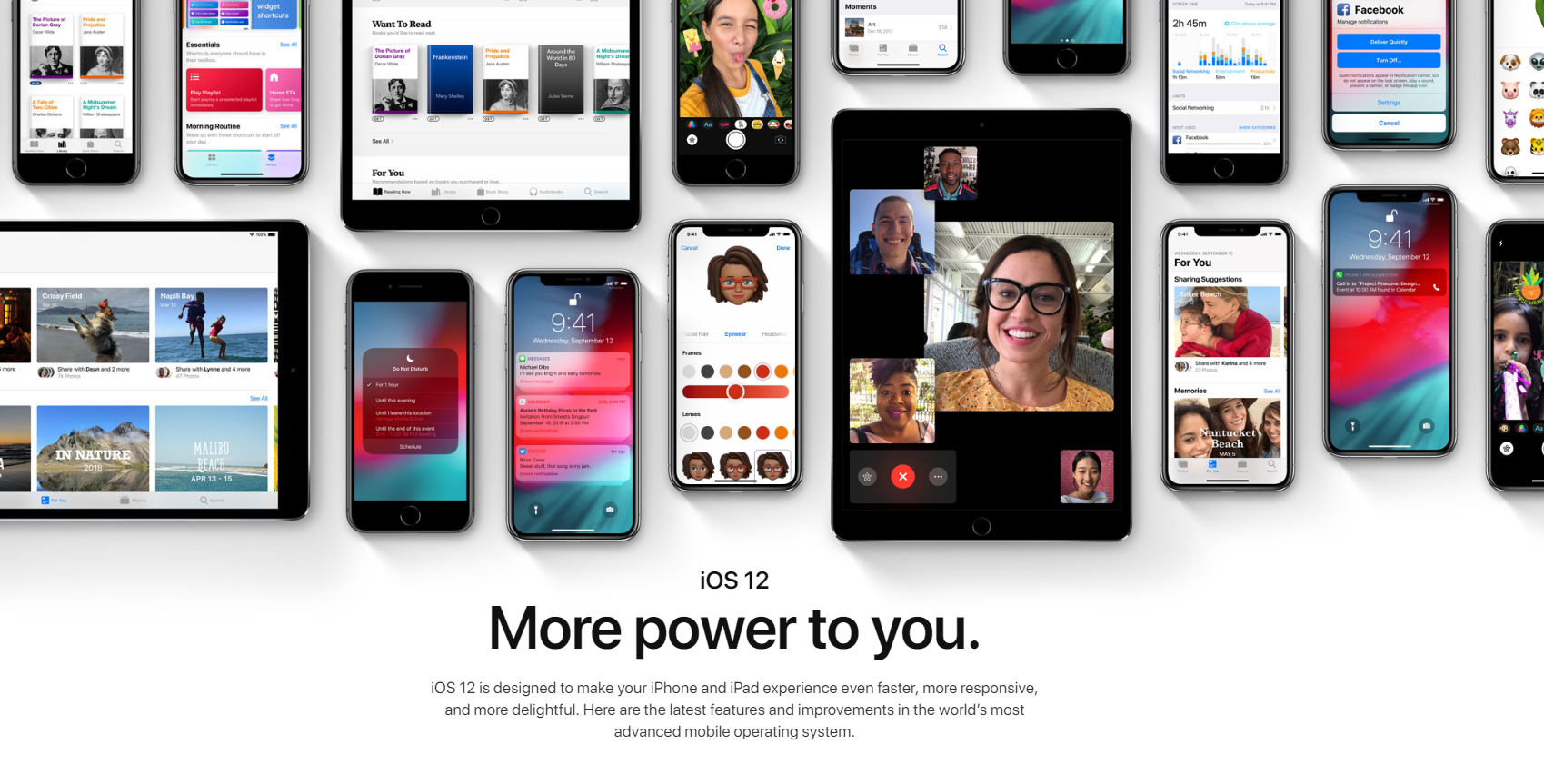 iOS 12 Top Features