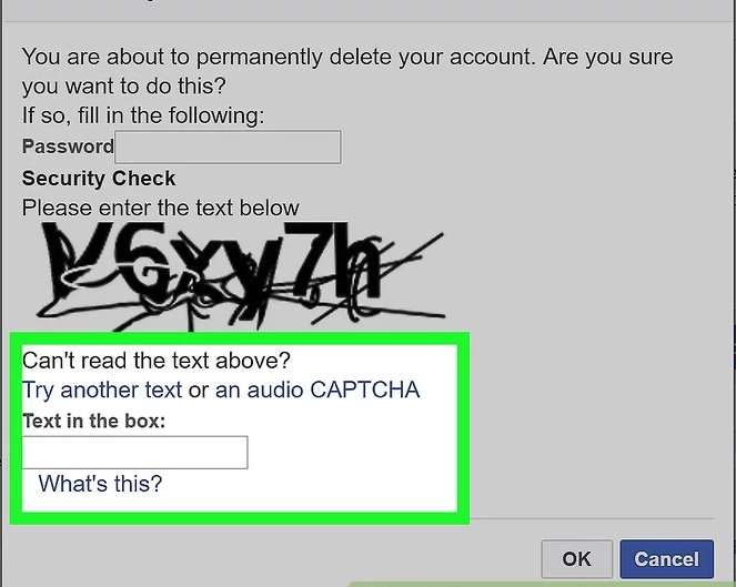 Facebook Captcha Login