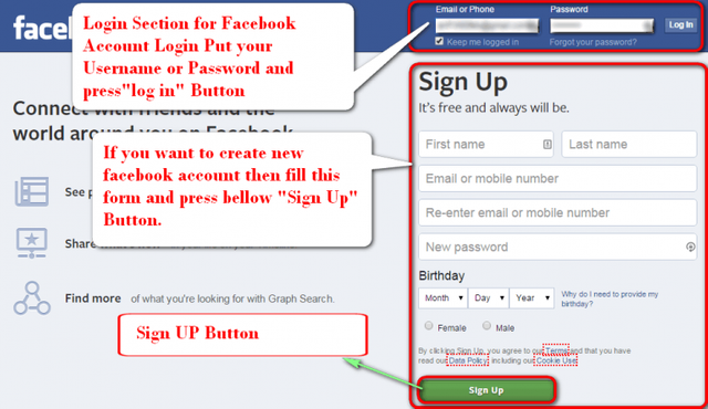 Facebook Login Sign In: Create Facebook Account, Facebook Password